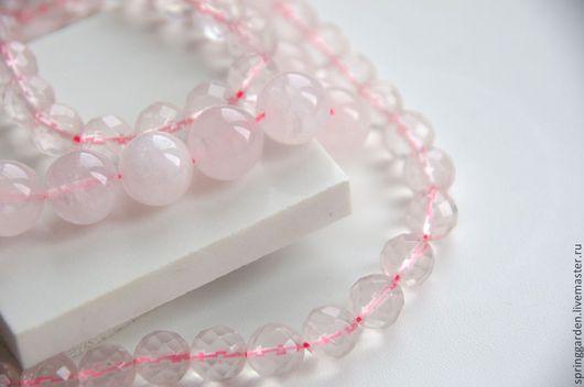 Для украшений ручной работы. Ярмарка Мастеров - ручная работа. Купить Розовый кварц ЖАКЛИН ДЮ ПРЕ  бусины 10мм и 14 мм. Handmade.