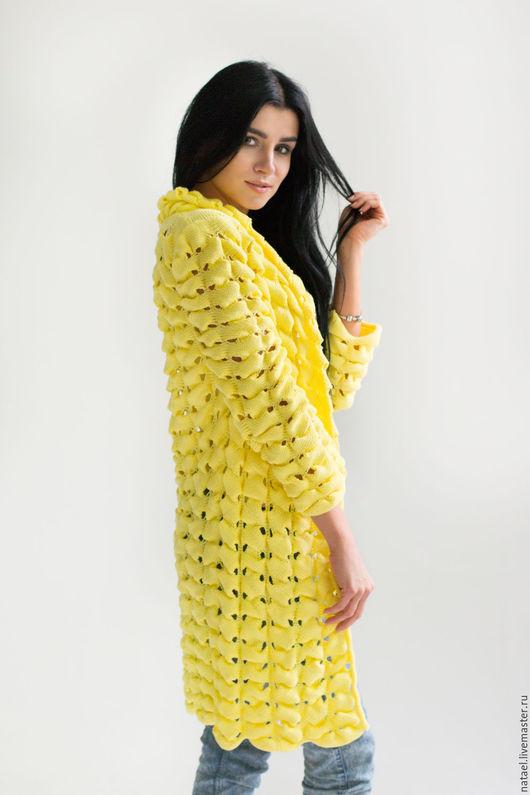 """Кофты и свитера ручной работы. Ярмарка Мастеров - ручная работа. Купить Кардиган """"Желтый колокольчик"""". Handmade. Желтый, кофта"""