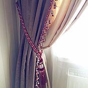 Для дома и интерьера ручной работы. Ярмарка Мастеров - ручная работа Шторы для гостиной с яркой отделкой. Handmade.