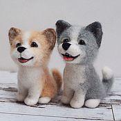 Куклы и игрушки handmade. Livemaster - original item Funny little dog toy Felted wool. Handmade.