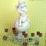 Элементы для скрапбукинга ручной работы. Ярмарка Мастеров - ручная работа Элементы для скрапбукинга: Декоративные бутылочки. В наличии. Handmade.