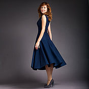 Платья ручной работы. Ярмарка Мастеров - ручная работа Джинсовое платье-полусолнце. Handmade.