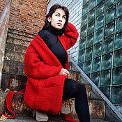 """Одежда ручной работы. Ярмарка Мастеров - ручная работа Вязаный кардиган-пальто """"Red"""". Handmade."""