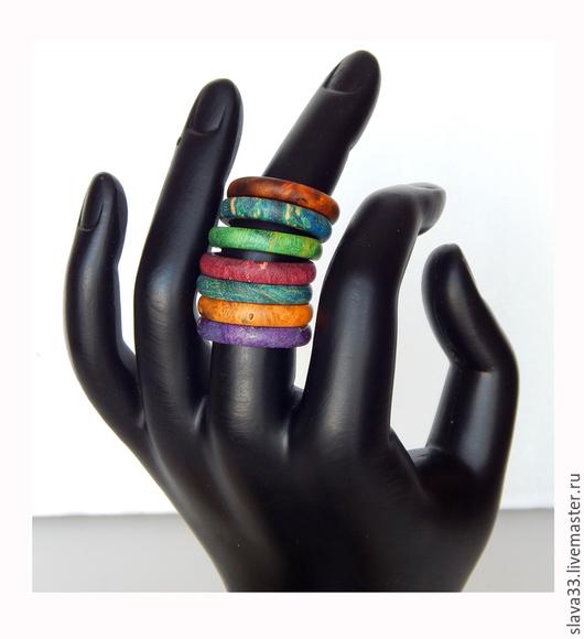 Кольца ручной работы. Ярмарка Мастеров - ручная работа. Купить Узкие разноцветные колечки.. Handmade. Разноцветный, яркое кольцо
