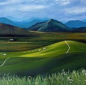 Картины и панно ручной работы. Ярмарка Мастеров - ручная работа В горах Ирландии - картина маслом пейзаж. Handmade.
