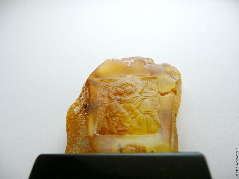 Владимирская Богородица, Pd-46 янтарь, Иконы, Калининград,  Фото №1
