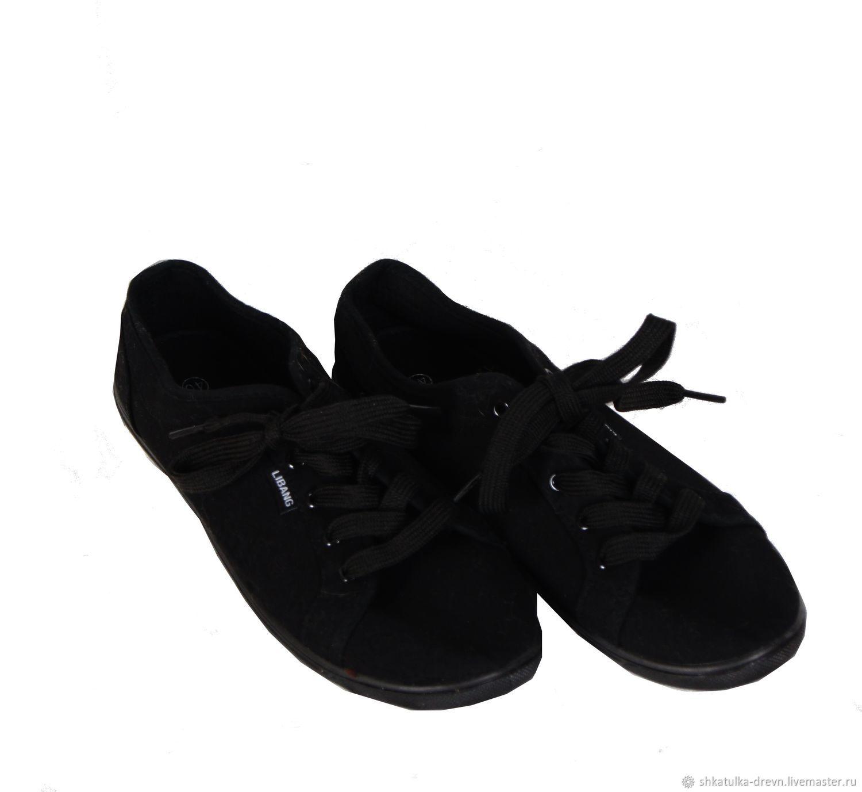83d61bec Винтажная обувь. Ярмарка Мастеров - ручная работа. Купить Винтаж: Женские  черные кеды 40 ...