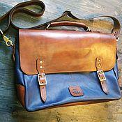 Сумки и аксессуары handmade. Livemaster - original item Briefcase made of genuine leather. Handmade.