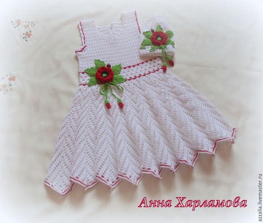 """Одежда для девочек, ручной работы. Ярмарка Мастеров - ручная работа. Купить Комплект """"Ангельский цветок"""". Handmade. Белый, Платье нарядное"""
