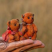 Куклы и игрушки ручной работы. Ярмарка Мастеров - ручная работа Плюшевые мини мишки тедди Хурма и Мандаринчик. Handmade.