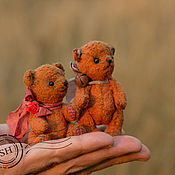 Куклы и игрушки handmade. Livemaster - original item Plush mini Teddy bears, Persimmon and Tangerine. Handmade.