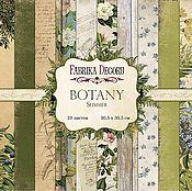 """Материалы для творчества ручной работы. Ярмарка Мастеров - ручная работа Набор бумаги """"Botany summer"""". Handmade."""