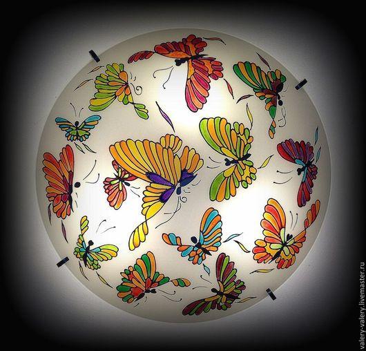 """Освещение ручной работы. Ярмарка Мастеров - ручная работа. Купить Люстра """"Бабочки"""" №2. Handmade. Дизайнерская люстра, интерьер"""