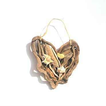 Для дома и интерьера ручной работы. Ярмарка Мастеров - ручная работа Солнечное сердце моря дрифвуд 17 см. Handmade.