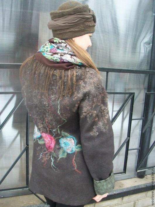 """Верхняя одежда ручной работы. Ярмарка Мастеров - ручная работа. Купить куртка валяная  """"Джейн """". Handmade. Коричневый"""