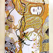 Картины и панно handmade. Livemaster - original item Picture Gold mermaids in the style of Gustav Klimt. Handmade.