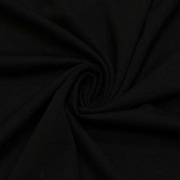 Материалы для творчества ручной работы. Ярмарка Мастеров - ручная работа Ткань трикотаж джерси черный 310г/кв.м. Handmade.