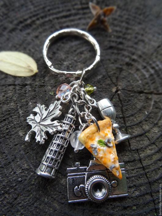 """Брелоки ручной работы. Ярмарка Мастеров - ручная работа. Купить """"Поедем, поедим?"""" брелок для ключей. Handmade. Абстрактный, брелок на сумку"""