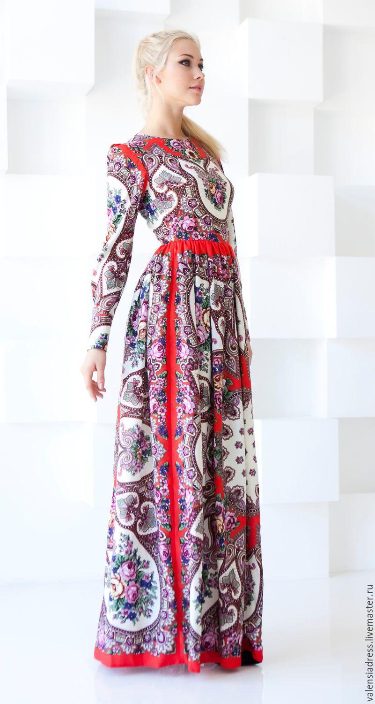 Красное платье из платков
