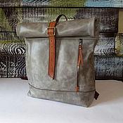 Сумки и аксессуары handmade. Livemaster - original item Backpack leather big city. Handmade.