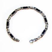 Украшения handmade. Livemaster - original item Silver bracelet with onyx