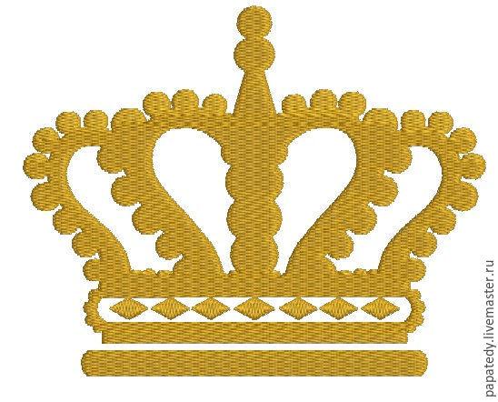 королевская корона и завитушка дизайны машинной вышивки, Иллюстрации, Кишинев,  Фото №1