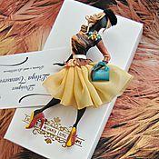 """Украшения ручной работы. Ярмарка Мастеров - ручная работа комплект:брошь """"Селена"""",платок. Handmade."""