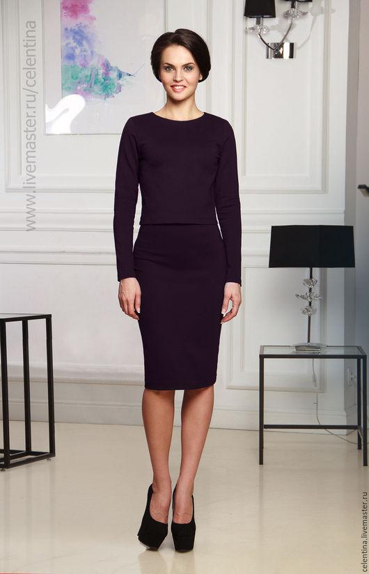 Фиолетовое платье, юбка карандаш, женский костюм, модное платье, короткое платье, женский топ, платье с длинным рукавом, нарядное платье, стильное платье, теплое платье, черное платье, зимнее платье