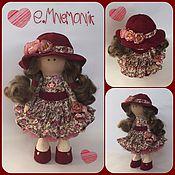Куклы и игрушки ручной работы. Ярмарка Мастеров - ручная работа Цветочная девочка в шляпке. Handmade.
