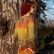 Одежда ручной работы. Ярмарка Мастеров - ручная работа свитер жаккардовый женский вязанный спицами. Handmade.