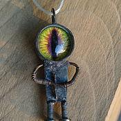 Украшения ручной работы. Ярмарка Мастеров - ручная работа Dragon bot 1 Подвеска - миниробот. Handmade.