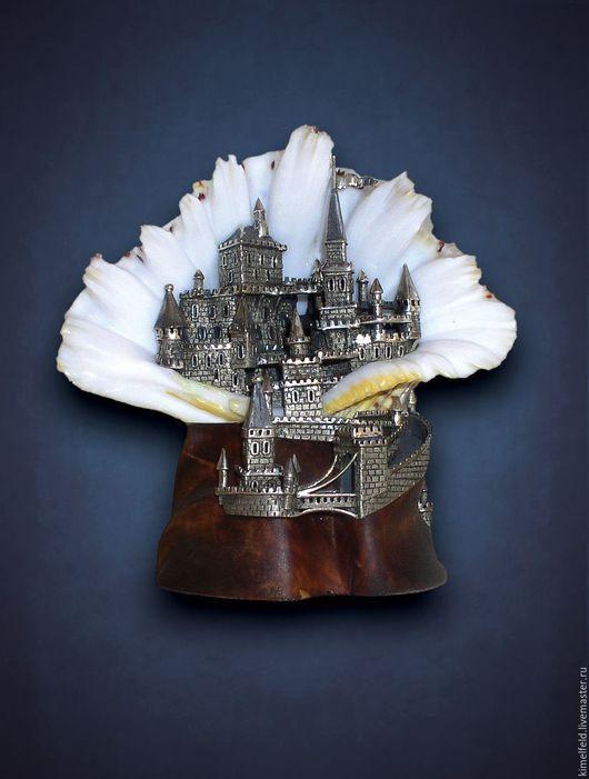 Персональные подарки ручной работы. Ярмарка Мастеров - ручная работа. Купить Серебро, морская раковина, сувенир Замок Морское чудо. Handmade.