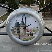 Для дома и интерьера handmade. Livemaster - original item Wall clock: Lock (embroidery, under glass). Handmade.
