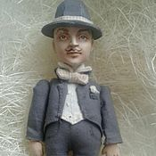 Куклы и игрушки ручной работы. Ярмарка Мастеров - ручная работа Пуаро (кукла подвеска). Handmade.