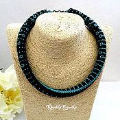 Украшения handmade. Livemaster - original item Harness necklace beaded Vassa Japanese seed beads. Handmade.
