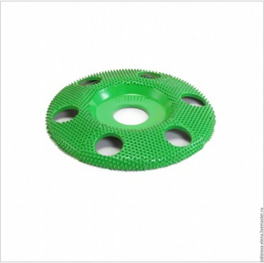 Другие виды рукоделия ручной работы. Ярмарка Мастеров - ручная работа. Купить Рашпильный диск для болгарки плоский среднегрубый с отверстиями. Handmade.