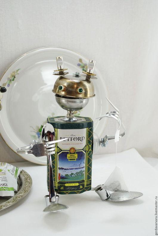 Кухня ручной работы. Ярмарка Мастеров - ручная работа. Купить Чайный Робот. Банка для хранения чая.. Handmade. Робот