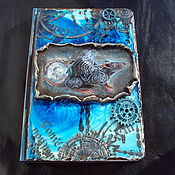Канцелярские товары handmade. Livemaster - original item Diary glow in the dark Rat steampunk. Handmade.