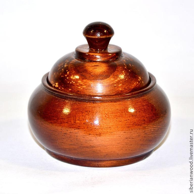 A jug with lid Sugar bowl Box of Siberian Cedar #K14, Jars, Novokuznetsk,  Фото №1