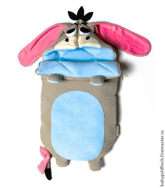 флисовый конверт для новорожденного забавный ослик иа