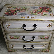 Для дома и интерьера handmade. Livemaster - original item Mini chest of drawers shabby Music. Handmade.