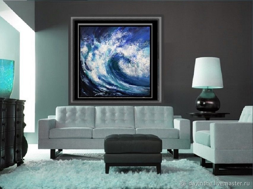 Symbolism handmade. Livemaster - handmade. Buy Large Acrylic Painting Sea Painting Wave.Ocean, acrylic painting, stretched canvas