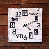 Для дома и интерьера ручной работы. Ярмарка Мастеров - ручная работа Деревянные Часы старые с разными цифрами. Handmade.