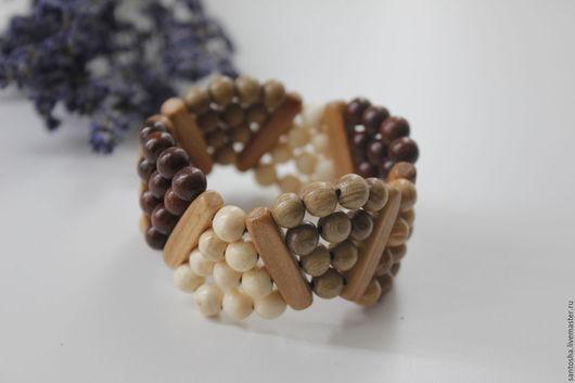 Браслеты ручной работы. Ярмарка Мастеров - ручная работа. Купить Браслет деревянный (BR0037). Handmade. Комбинированный, браслет деревянный