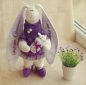 Куклы и игрушки ручной работы. Ярмарка Мастеров - ручная работа Зайка-мама в фиолетовом. Handmade.