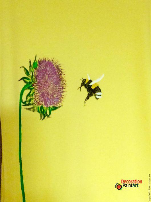 Топы ручной работы. Ярмарка Мастеров - ручная работа. Купить Топ с ручной авторской  росписью, Пчелка.. Handmade. Топ