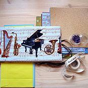 """Канцелярские товары ручной работы. Ярмарка Мастеров - ручная работа набор для творчества """" Мини фотоальбом"""". Handmade."""