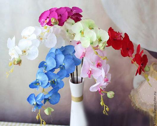 Материалы для флористики ручной работы. Ярмарка Мастеров - ручная работа. Купить Ветка орхидеи. Handmade. Комбинированный, букет оржидеи, флористика