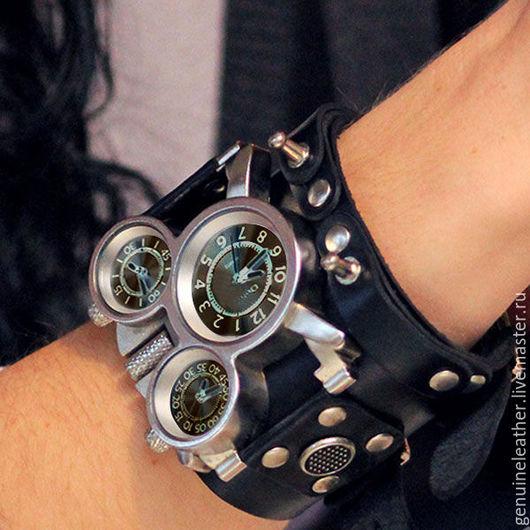 """Часы ручной работы. Ярмарка Мастеров - ручная работа. Купить Наручные часы с кожаным браслетом """" Стимпанк """". Handmade."""