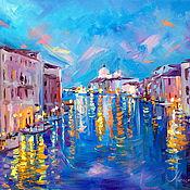 Картины и панно handmade. Livemaster - original item Oil painting on canvas. Lights Of Venice. Venice. Italy. Handmade.